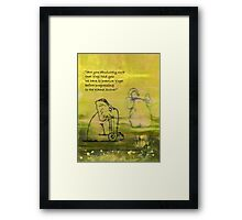 Yoga for Elephants 1 Framed Print