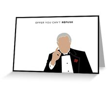 minimal poster - The Godfather Greeting Card