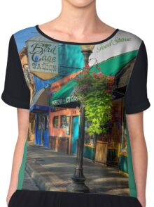 Historical Whiskey Row Prescott Arizona Chiffon Top