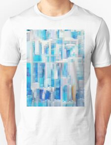 Abstract blue pattern 2 T-Shirt