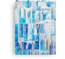 Abstract blue pattern 2 Canvas Print