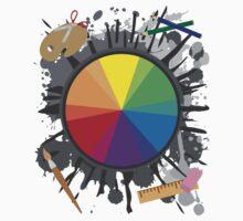 Artist Tools - Color Wheel Baby Tee