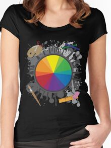 Artist Tools - Color Wheel Women's Fitted Scoop T-Shirt