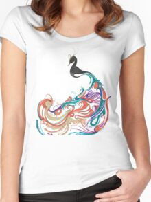 Abstract peacock Women's Fitted Scoop T-Shirt