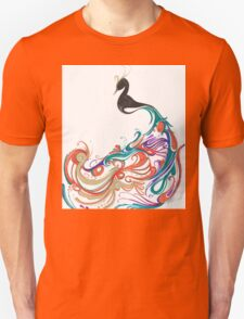 Abstract peacock Unisex T-Shirt