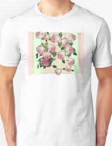 EDEN ROSE WITH PINK AND GREEN STRIPE T-Shirt