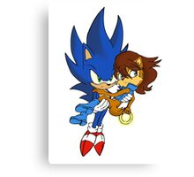 Sonic and Sally Canvas Print