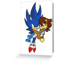Sonic and Sally Greeting Card