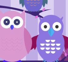 Purple Owls Sticker