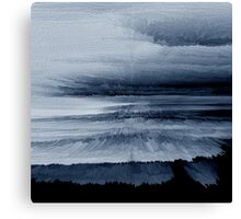 Abstract black painting 2 Canvas Print
