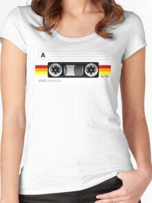 Cassette tape vector design Women's Fitted Scoop T-Shirt