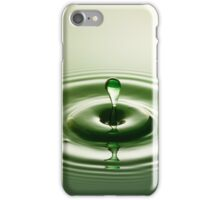 Green Droplet - Water Drops iPhone Case/Skin