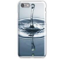 Ice Blue - Water Drops iPhone Case/Skin