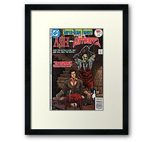 ASH LEATHER FACE EVIL DEAD Framed Print