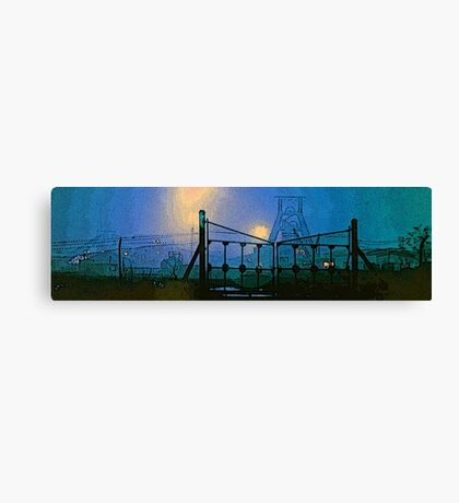 bates pit night Canvas Print
