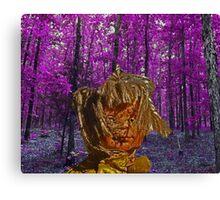 trippy doll purple trees Canvas Print
