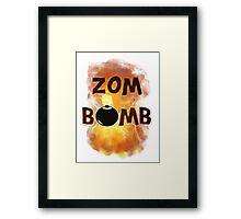 Zombomb Framed Print