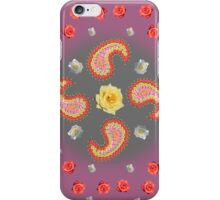 Paisley - Mixed Roses  iPhone Case/Skin
