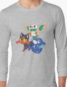 Pokemon Sun and Moon Starters Long Sleeve T-Shirt