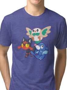 Pokemon Sun and Moon Starters Tri-blend T-Shirt