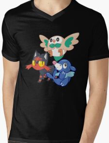 Pokemon Sun and Moon Starters Mens V-Neck T-Shirt