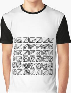 GTA San Andreas weapons icons Graphic T-Shirt