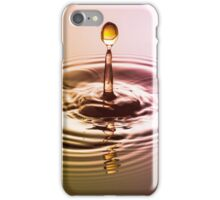 Pink & Gold Statue ~ Water Drops iPhone Case/Skin