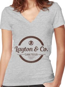 Layton & Co. Classic Puzzles Women's Fitted V-Neck T-Shirt