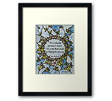 Crown of Thorns by Leslie Berg with Quotation Framed Print