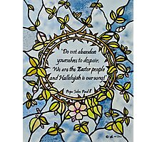 Crown of Thorns by Leslie Berg with Quotation Photographic Print