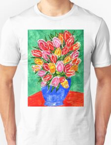 Tulips in a Vase Painting T-Shirt