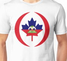 Haitian Canadian Multinational Patriot Flag Series Unisex T-Shirt