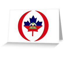 Haitian Canadian Multinational Patriot Flag Series Greeting Card