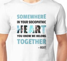 sociopathic heart - Root & Shaw Unisex T-Shirt