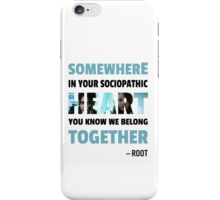sociopathic heart - Root & Shaw iPhone Case/Skin