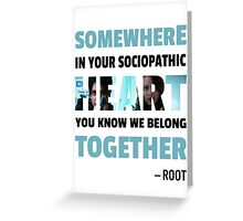 sociopathic heart - Root & Shaw Greeting Card