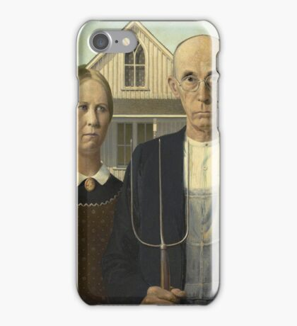Grant Wood - American Gothic iPhone Case/Skin