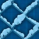 Fence With Snow in Blue by Christian Eccleston