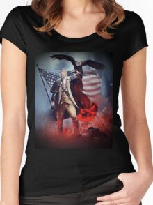 Donald Trump Leading America Out of Hell... Women's Fitted Scoop T-Shirt