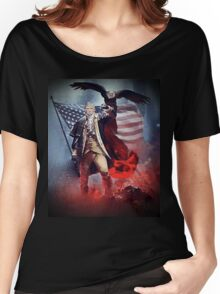 Donald Trump Leading America Out of Hell... Women's Relaxed Fit T-Shirt