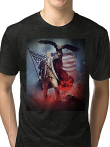 Donald Trump Leading America Out of Hell... Tri-blend T-Shirt
