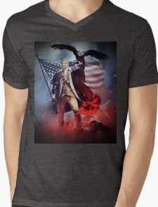 Donald Trump Leading America Out of Hell... Mens V-Neck T-Shirt