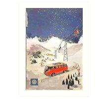 Vintage Samba in the snow Art Print