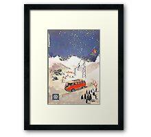Vintage Samba in the snow Framed Print