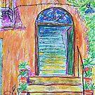 Oil Pastels Sketch - Farmhouse Entrance. 2016 by Igor Pozdnyakov