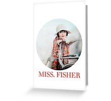 MISS. FISHER Greeting Card
