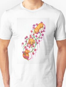 Watercolour Mice in the Bush T-Shirt