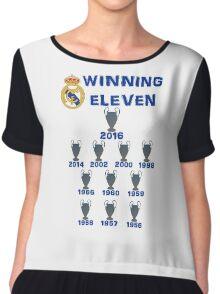 Real Madrid Winning 11 Champions League (A) Chiffon Top