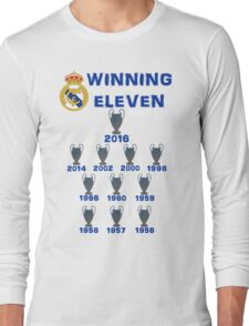 Real Madrid Winning 11 Champions League (A) Long Sleeve T-Shirt