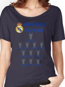 Real Madrid Winning 11 Champions League (A) Women's Relaxed Fit T-Shirt